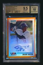 2010 BOWMAN CHROME BRIAN RAGIRA RC ORANGE REF AUTO SF GIANTS /25 BGS 9.5 POP 1!
