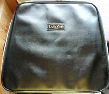 LANCOME PARIS Extra Large Black Make Up Bag Case Faux Patent Leather & Vinyl