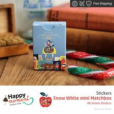 Snow White mini Matchbox Stickers Scrap Book Home Decor Boys And Girls 48 sheets