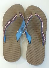 NEW MOSSIMO Mens Colorful Summer Slip On Beach Flip Flop Sandals Size 11
