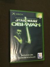 Original Microsoft XBox Video Game Star Wars Obi-Wan Rated T NICE!
