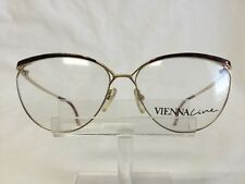 Vintage Vienna Line 1791 Eyeglasses Sunglasses Gold Burgundy Black Large