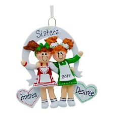 PERSONALIZED 2 Best Friends Sisters Christmas Tree Ornament 2019 Holiday Gift