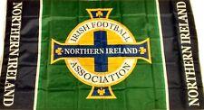 """New Northern Ireland Football Flag NI IFA Flag """"GAWA FLEGG!"""" Norn Iron 5ft x 3ft"""