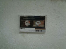 Vintage Audio Cassette SONY UX-S 60 * Rare From 1986 * Unsealed