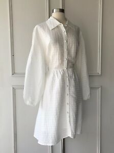 | COUNTRY ROAD | puff sleeve mini dress white | NEW | $199 | SIZE: 16 |