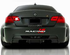 RACING Bumper Vinyl Decal Sticker Performance Sport Car Truck SUV Emblem logo