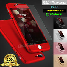 For iPhone 6 6S Plus Slim 360° Hybrid Tempered Glass + Hard Acrylic Case Cover