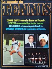 LE MONDE DU TENNIS Magazine March 1980 in French - Vintage Very Good Condition!