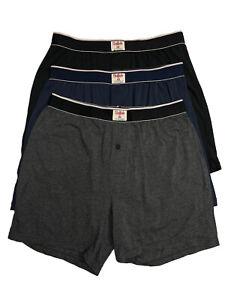 Buffalo David Bitton Men's 3 Pack Knit Boxers - Size: Medium & Large   -     O-6