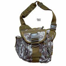 Metal Detecting Cross Body Multi Pocket Shoulder Accessory/Finds Bag. Digi Camo
