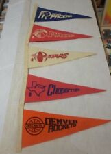 ABA Vintage Mini Pennants 4x9 Pros Chaparrals Denver Rockets Utah Stars Pacers