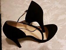 PRIMADONNA COLLECTION LADIES UK 6/ EURO 39 BLACK SUEDE HIGH HEELS DRESS SHOES.