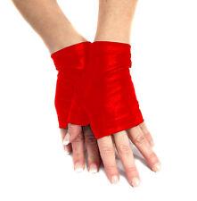 Madame Fantasy Sexy Rojo Spandex Guantes sin dedos