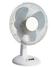 Challenge White Oscillating Cooling Desk Fan 12 Inch 3 Speed