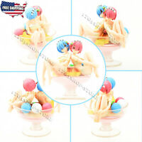 Re Zero Starting Life in Another World Rem Ram Pudding Figure Statue Anime