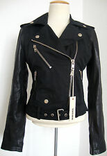 DIESEL LUPUS GIACCA Leather Jacket Damen Lederjacke Jacke Gr.S NEU mit ETIKETT
