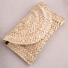 Bohemia Handmade Rattan Woven Handbag Straw Knitted Messenger Bag Summer Beach