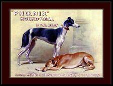 English Print Greyhound Dog Britain's Phoenix Biscuit Advertisement Poster Art