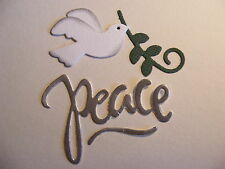 Dove and Branch Peace Phrase Christmas Wedding Card Die Cuts