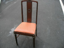 Antique Victorian mahogany Brown side chair wood.1900-1950 America
