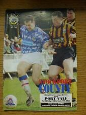 19/04/1994 Stockport County v Port Vale  (Team Changes). Item In very good condi