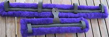 Miniature Mini Horse Donkey Harness Cart Carriage Driving Pads Fleece Purple