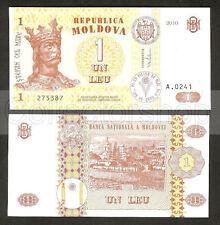 Moldova 1 Leu 2010 Unc Pn 8