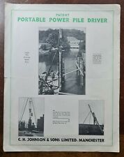 C H Johnson & Sons, Smedley Rd, Manchester, Portable Pile Driver Trade Broshure
