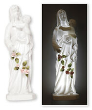 MARY OUR LADY MADONNA & CHILD BABY JESUS PORCELAIN ILLUMINATED STATUE LED LIGHT