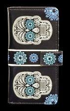 porte-monnaie avec tête de mort - Sucre Tête de mort - Gothique PORTEFEUILLE