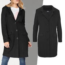 schöner hochwertiger zeitloser Mantel Jacke SCHWARZ Strickmantel Gr.36/38 S/M