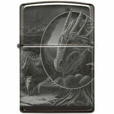 More details for lisa parker magical mystical dragon black ice photo imaged zippo lighter