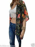 Plus size 14-24 UK Ladies womans tropical beach cover up sheer summer sun top