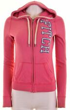 HOLLISTER Womens Hoodie Sweater Size 8 Small Pink Cotton  H224