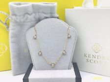 WOW! 14K Yellow GOLD Kendra Scott SHANNON NECKLACE set With DIAMONDS