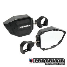 "Pro Armor Universal Black Side View Mirrors 1.75"" Clamp Kawasaki Can-am Polaris"