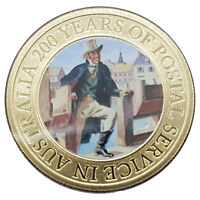 Australia Post 200 Years 2009 Postmaster Isaac Nichols $1 One Dollar UNC Coin