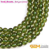 """Green Peridot Crystal Gemstone Loose Beads For Jewelry Making Strand 15"""" SD"""