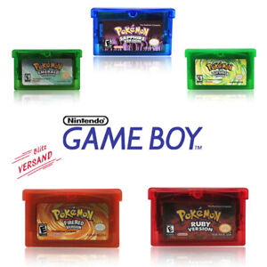 Pokemon GBA Spiele Gameboy Advance Nintendo Ruby, Saphir, Emerald und andere NEU