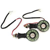 2x Motorcycle Round Hollow LED Turn Signal Indicator Blinker Light Lamp 12V