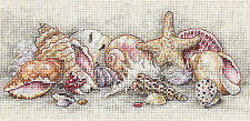 Dimensions D65035 | Seashell Treasure Picture Counted Cross Stitch Kit 20 X 10cm