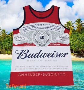 New Budweiser Beer Bud Classic Mens Tank Top T-Shirt