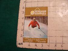 Vintage High Grade SKI Brochure: BROMONT ski center 1971