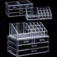 Acrylic Transparent Makeup Storage Organizer Cosmetic Brush Storage Drawers Type
