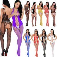 Sexy Women Lingerie Lace Fishnet Body Stocking Bodysuit Teddy Babydoll Nightwear