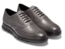 Cole haan ZEROGRAND Wingtip Oxford Shoes Burnished Leather C30720 Men's size 12