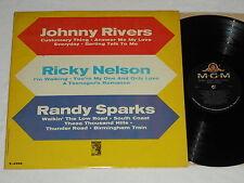 JOHNNY RIVERS/RICKY NELSON/RANDY SPARKS (1964) Mono MGM LP