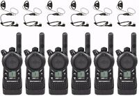 6 Motorola CLS1110 UHF Radios & Headsets + Rebate for a Free Multi-Unit Charger