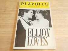 Playbill Program Elliot Loves Promenade Theatre 1990 Karen Anthony Heald